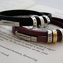 Double Strap Leather Hoop Bracelet