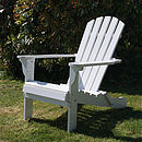 Adirondack Folding Chair In Painted White