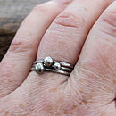 Handmade silver stacking rings - antiqued