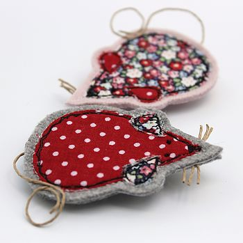 Embroidered Mouse Brooch