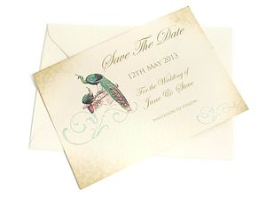Vintage Style Save The Date Card - wedding stationery