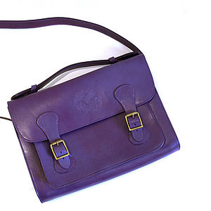 Langdon Leather Satchel - off to university