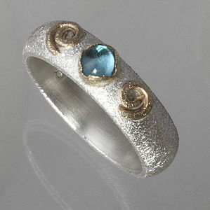 Handmade Silver And Gold Topaz Ring November Birthstone - rings