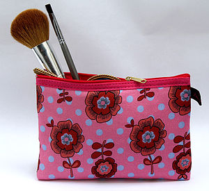 Vintage Style Small Cosmetic Bag - cosmetic & wash bags