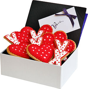 Hearts And Kisses Biscuit Box - food & drink gifts