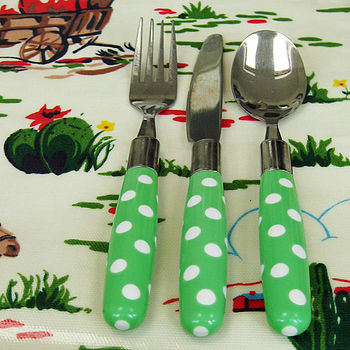 Child's Dotty Cutlery Sets