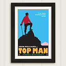 Personalised 'Top Man' Print