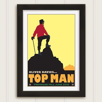 Personalised Top Man Celebration Print