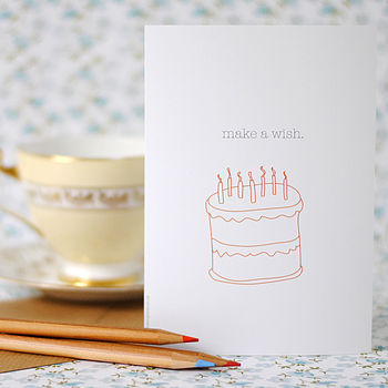 Set Of Six Cake Postcards