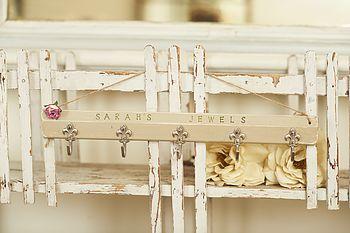 Personalised Hanging Jewels Storage