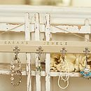 Personalised Hanging Jewels Storage