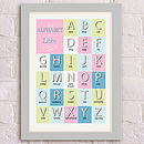 'An Alphabet' Personalised Print.SoftPink