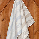 Ticking Stripe Cotton Drill Tea Towel