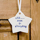 Personalised New Baby Gift Door Hanger