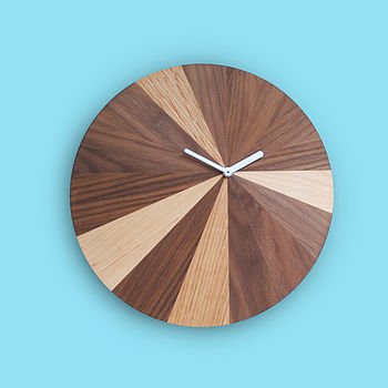 sundial clock in walnut mix
