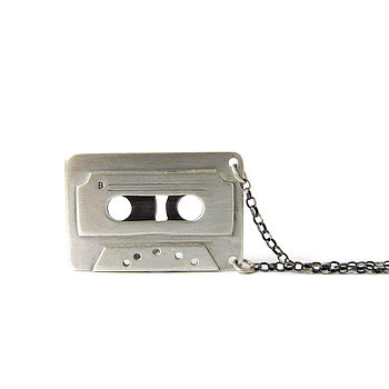 Otoo Silver Tape Cassette Necklace