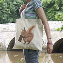 Illustrated Super Squirrel Tote Bag