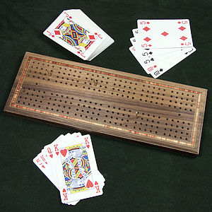 Wooden Cribbage Set - toys & games for adults