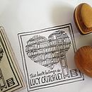 Personalised Library/Heart Book Stamp