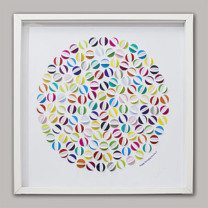 Hand Cut Beach Ball Artwork