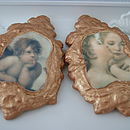 Two Putti Cherub Frame Cookies