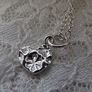 Personalised Mini Silver Heart Pendant