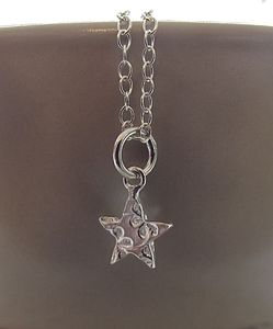 Personalised Mini Silver Star Pendant - women's jewellery