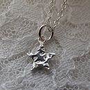 Personalised Mini Silver Star Pendant
