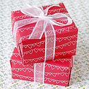 Thumb red heart gift wrap stack