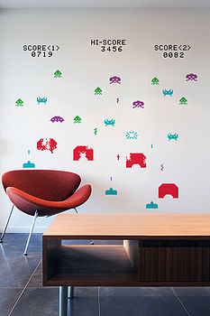Space Invader Wall Stickers
