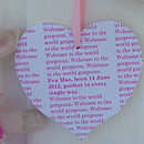 Personalised New Baby Wooden Hearts