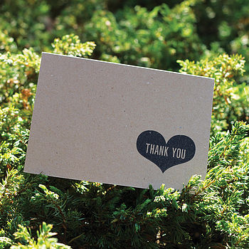 Eco Hand Stamped Thank You Card