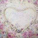 Art Deco Pearl And Crystal Necklace