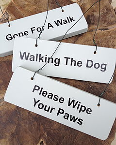 Dog Lovers Various Wooden Hanging Signs - home accessories