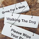 Dog Lovers Various Wooden Hanging Signs