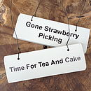 'Afternoon Tea' Various Wooden Hanging Signs