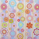Design 8 Multicoloured Stripes and Flowers