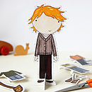 Ginger Paper Doll Activity