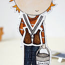 Dress Up Colin Paper Doll