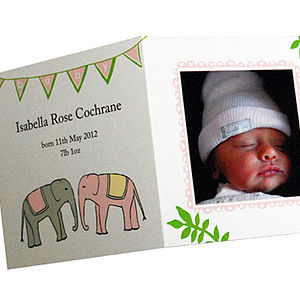 Personalised Baby Photo Thank You Cards Pink - cards