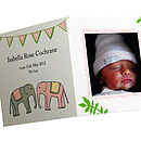 Personalised Baby Photo Thank You Cards Pink