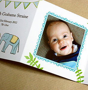 Ten Personalised Baby Photo Thank You Cards - thank you cards