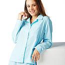 Turquoise & White Stripe Pyjamas