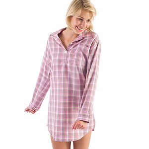 Women's Brushed Cotton Nightshirt - lingerie & nightwear