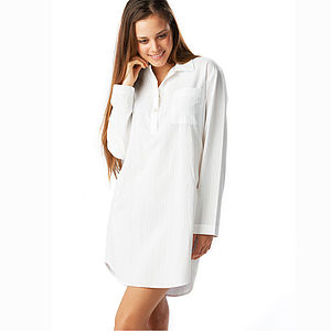 Ladies White Nightshirt - loungewear