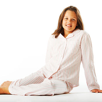 Girl's Pink Striped Pyjamas 11-14yrs