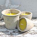 Rustic Citronella Garden Candle