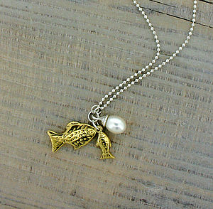Gold Fish Necklace - necklaces & pendants