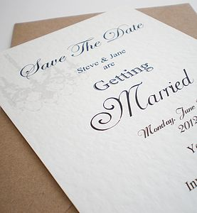 Handmade Save The Date Card - save the date cards