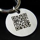 Personalised Secret Message QR Code Keyring